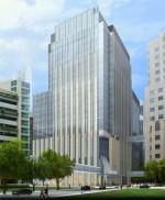 Northwestern Memorial Hospital plans to develop a $334 million, 25-story, 1 million square foot medical office building near its main hospital. Rendering courtesy of Northwestern Memorial