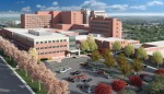 Construction of a planned three-story, 60,000 square foot medical office building was within days of beginning when Baltimore's Saint Agnes Hospital decided it needed more space than planned. Rendering courtesy of NexCore Group