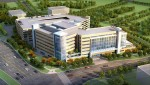 Inova Health System plans to break ground in 2014 for the $252 million, seven-story, 300,000 square foot Inova Comprehensive Cancer and Research Institute in Falls Church, Va. (Rendering courtesy of Inova Health System)