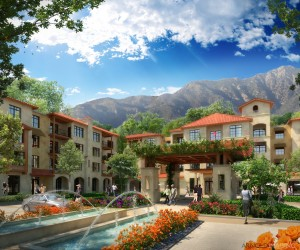 Ziegler recently closed on $140 million in bond financing for the MonteCedro continuing care retirement community (CCRC) in Altadena, Calif., which is being developed by an affiliate of Episcopal Communities & Services (ECS). (Rendering courtesy of ECS)