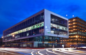 Chicago-based Harrison Street Real Estate Capital recently acquired about half of the square footage of the 220,000 square foot orthopedic ambulatory care building on the campus of Rush University Medical Center in Chicago. (Photo courtesy of CBRE Group Inc.)