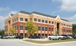 One of the two medical office buildings being offered as part of a package in Stockbridge, Ga., is the facility at 1050 Eagles Landing Parkway. Photo courtesy of CBRE