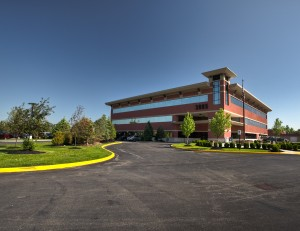 This building at 3085 Harlem Road in Cheektowaga, N.Y., was part of a four-building portfolio recently acquired by Ciminelli Real Estate Corp. and MB Real Estate. (Photo courtesy of H2C)