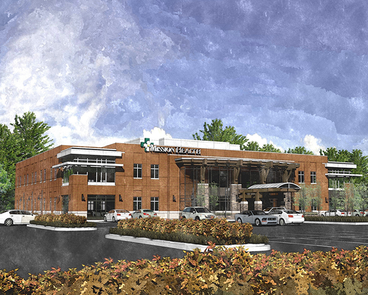 The Keith Corporation found a way to structure financing to deliver a much-needed 30,000 square foot clinic for a remote community in rural North Carolina. Rendering courtesy of The Keith Corporation