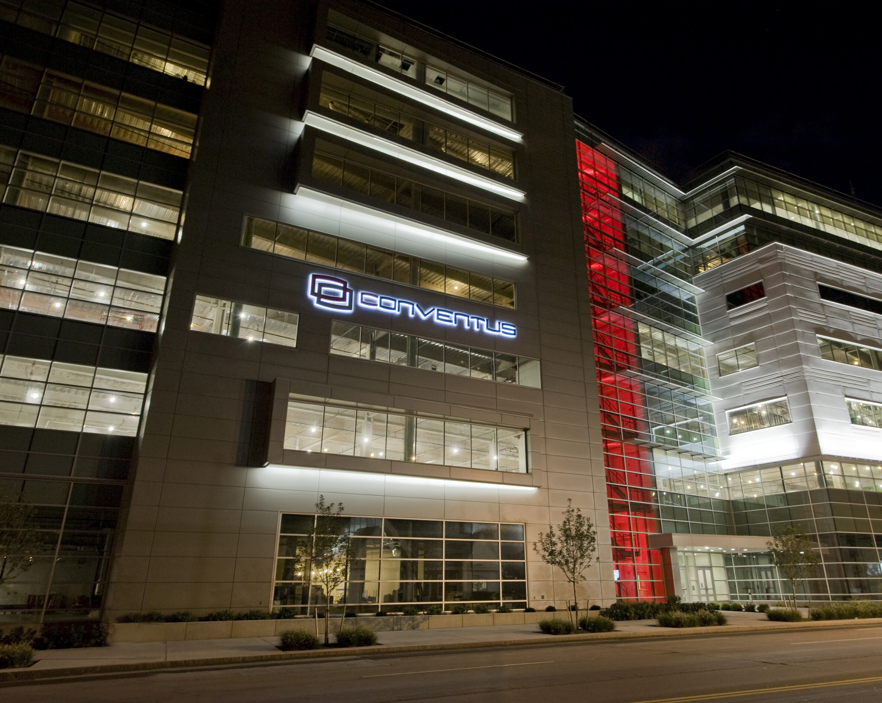 The $110 million, seven story, 350,000 square foot Conventus project created a new gateway to the Buffalo Niagara Medical Campus in Buffalo, N.Y. Photo courtesy of Ciminelli