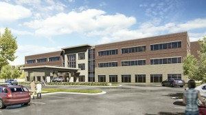 Duke Realty is in the process of starting work on this project in Oxford, Miss. The 78,000 square foot Baptist Oxford Medical Office Building will be on the campus of the future $300 million replacement for Baptist Memorial Hospital-North Mississippi. Rendering courtesy of Duke Realty