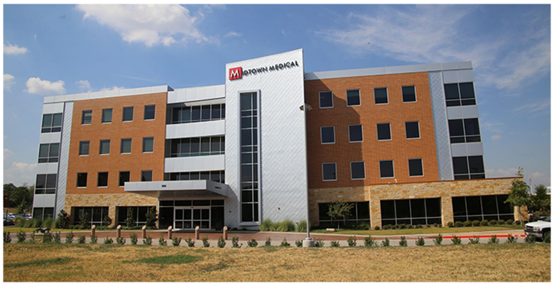 The Midtown Medical Office Building in Fort Worth, Texas, is being marketed by The Stan Johnson Co. The nearly 60,000 square foot, four-story building is located at what is considered the gateway to Fort Worth's South Medical District. Photo courtesy of The Stan Johnson Co.