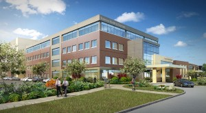 Duke Realty is developing and will own the 80,000 square foot Centegra Health Medical Office Building (MOB) in Huntley, Ill. The facility, slated for completion in February 2017, is being built on the campus of Centegra Health's new campus in the city. Rendering courtesy of Duke Realty