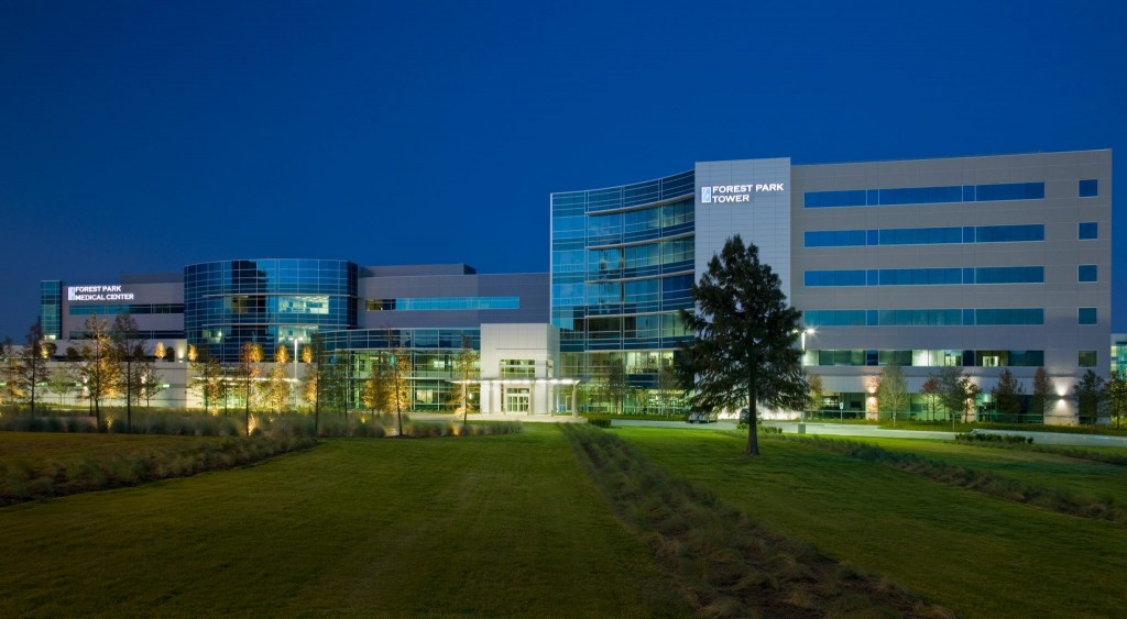 The flagship Forest Park Medical Center Dallas, which closed in October 2015, was recently acquired and rebranded by the HCA North Texas system, part of Nashville, Tenn.-based HCA Inc. (Photo courtesy of The Neal Richards Group)