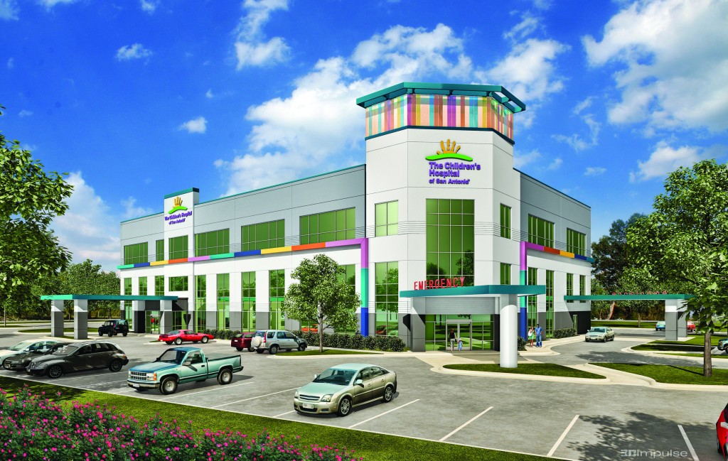The future Children's Hospital of San Antonio Health Pavilion - Stone Oak will be a three-story, 60,000 square foot medical office building providing a wide array of outpatient pediatric services, including pediatric emergency care. Photo courtesy of Seavest Healthcare Properties