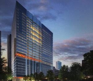 The new $550 million, 27-story, 242-bed Shirley Ryan AbilityLab is scheduled to open March 25 at 355 E. Erie St. in Chicago's Streeterville neighborhood, replacing and rebranding the 182-bed Rehabilitation Institute of Chicago (RIC) hospital at 345 E. Superior St. (Rendering courtesy of RIC)