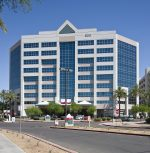 One of the Arizona assets Healthcare Trust of America Inc. recently acquired from a joint venture of NexCore Group LP and Heitman was the nine-story, 169,000 square foot McAuley Medical Office Building at 500 W. Thomas Road in Phoenix. Photo courtesy of NexCore Group