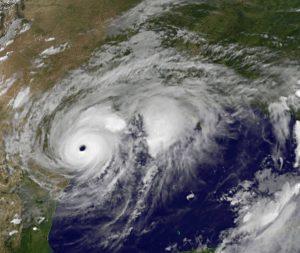 Hurricane Harvey barrels into Texas (Photo courtesy of NASA)
