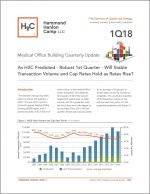 Thought Leaders: H2C MOB Report 1Q18: As H2C Predicted – Robust 1st Quarter – Will Stable Transaction Volume and Cap Rates Hold as Rates Rise?