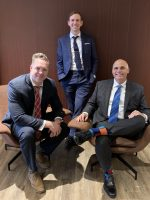 The Synergy team includes (from left to right): Matthew O'Keefe, Eric Mayer and Patrick Giordana.