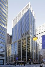 MBRE Healthcare has acquired 93,000 square feet of medical space on seven floors within this 40-story commercial building at 150 and 160 E. Huron St. in the Streeterville neighborhood of Chicago. (Photo courtesy of MBRE Healthcare)