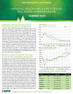 Thought Leaders: CBRE Summer 2020 National Healthcare & Life Sciences Real Estate Investor Update