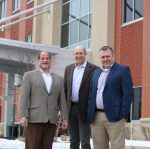 Cleveland-based Woodside Health, a national healthcare real estate investment and management firm founded in 2010, continues to be led by its three co-founders (from left to right): Ted Barr, Ben Sheridan and Joe Greulich. Photo courtesy of Woodside Health